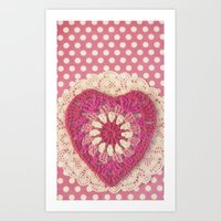 Crochet Valentine Art Print