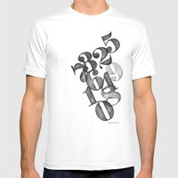 Watercolornumbers Mens Fitted Tee White SMALL