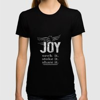 JOY...share It! Womens Fitted Tee Black SMALL