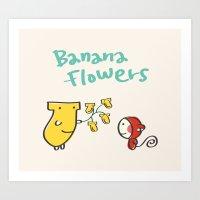 Banana Flowers Art Print