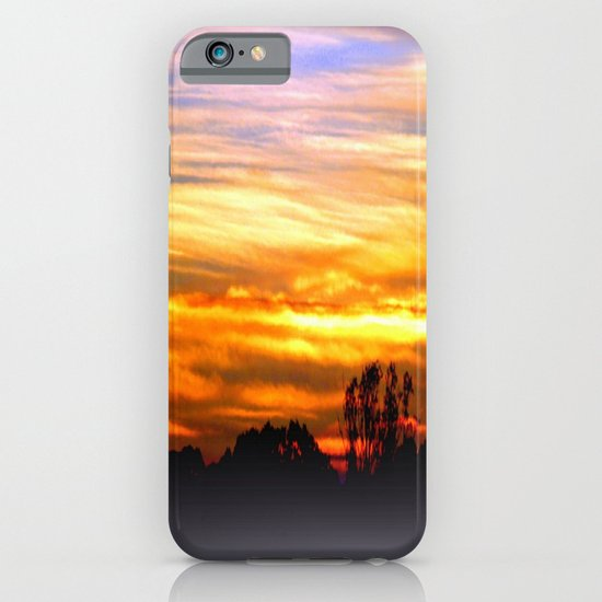 Layers of vibrant Clouds iPhone & iPod Case