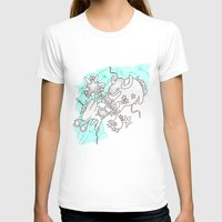 Oh Animals Womens Fitted Tee White SMALL