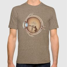 Extraordinary Observer Mens Fitted Tee Tri-Coffee SMALL