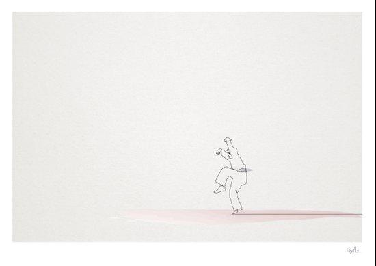 The Karate Kid linea Art Print