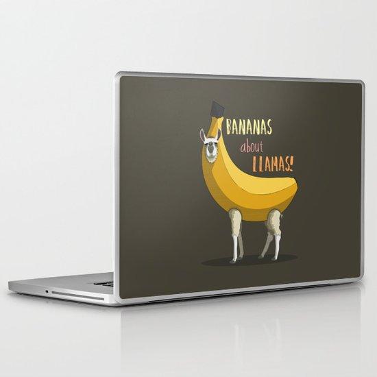 Bananas About Llamas! Laptop & iPad Skin