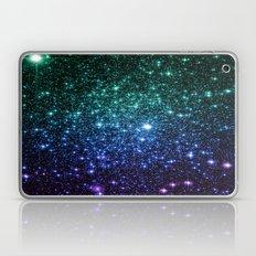 Galaxy Stars : Teal Periwinkle Violet Laptop & iPad Skin