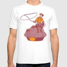 Spaghetti Western Mens Fitted Tee White SMALL