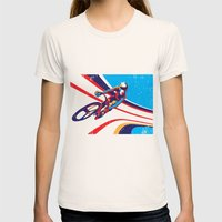 Retro Track Cycling Post… Womens Fitted Tee Natural SMALL