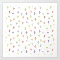 Catctus Multicolor Art Print
