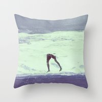 IT'S ALWAYS BETTER UNDER WATER Throw Pillow