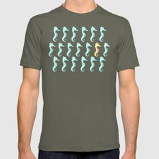One Stand Out Seahorse Mens Fitted Tee Lieutenant SMALL