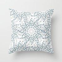 Stylized Flower - Circle… Throw Pillow