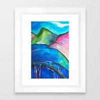Heart Bridge Framed Art Print