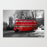 Red Routemaster Bus Canvas Print