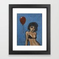 Why so blue? Framed Art Print