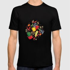 Hot & spicy! SMALL Mens Fitted Tee Black