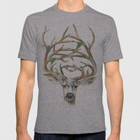 Buck Mens Fitted Tee Athletic Grey SMALL