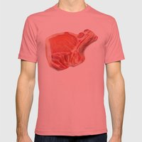 Meat Mens Fitted Tee Pomegranate SMALL