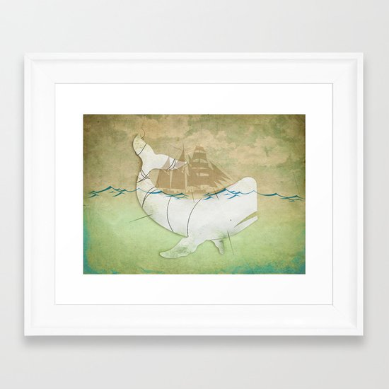 The ghost of Captain Ahab  Framed Art Print