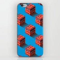 3D pixel city iPhone & iPod Skin