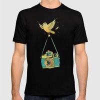 Lomofun Mens Fitted Tee Black SMALL