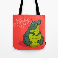 Alligator Pear Tote Bag