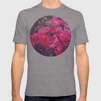 Faded Floral Mens Fitted Tee Tri-Grey SMALL