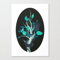 Snake - Blue Canvas Print