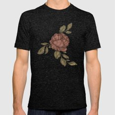 Rose Mens Fitted Tee Tri-Black SMALL