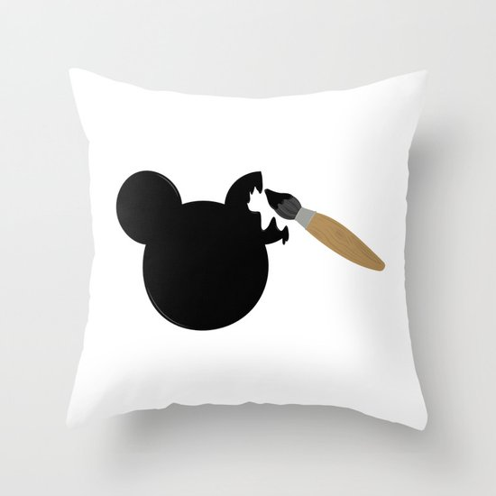 Disney's Mickey Mouse Painting Throw Pillow