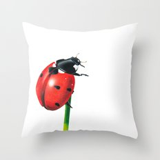 Ladybug | Colored pencil drawing Throw Pillow