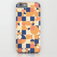 Orange & Navy  iPhone 6 Slim Case