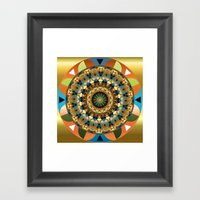 Navajo Mandala Framed Art Print