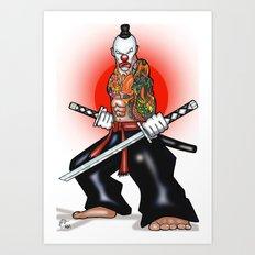 Clown Samurai Art Print
