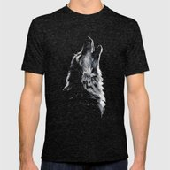 Wolf Mens Fitted Tee Tri-Black SMALL