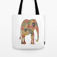 Flower Power Elephant Tote Bag