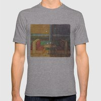 Diner Days, Diner Nights Mens Fitted Tee Athletic Grey SMALL