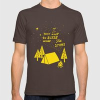 I Just Want To Sleep Under The Stars Mens Fitted Tee Brown SMALL
