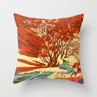 A bird never seen before - Fortuna series Throw Pillow