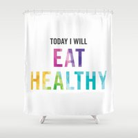 New Year's Resolution Po… Shower Curtain
