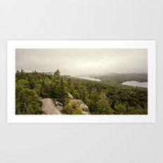 rain in the mountains Art Print