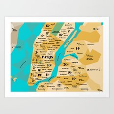 Paris sur New York Art Print