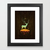 Fawn and Flora Framed Art Print