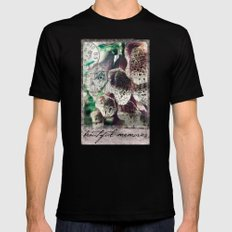 beautiful memories SMALL Black Mens Fitted Tee