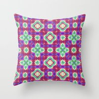 Purple Cave 4 SE Throw Pillow