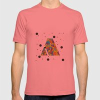 Letter A Mens Fitted Tee Pomegranate SMALL