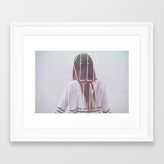 Wander (Keep Calm) Framed Art Print