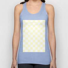 Checker (Cream/White) Unisex Tank Top