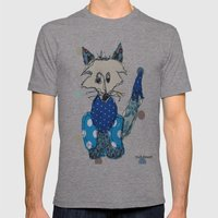 Mr Foxy Mens Fitted Tee Tri-Grey SMALL
