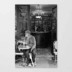 At the Cafe Canvas Print